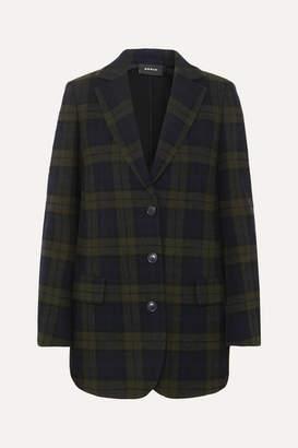Akris Datson Checked Wool-blend Blazer - Navy