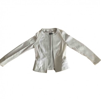 Dirk Bikkembergs White Leather Jacket for Women
