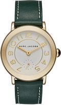Marc Jacobs Women's Riley Dark Green Leather Strap Watch 36mm MJ8675
