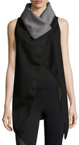 Michi Revolver Reversible Wrap Vest, Gray/Black