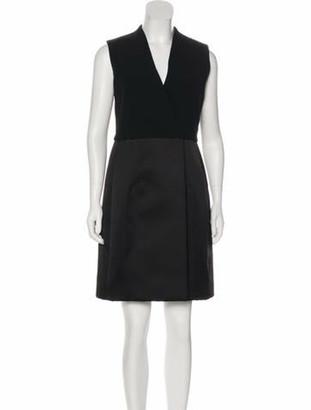Celine Silk-Blend Knee-Length Dress w/ Tags Black