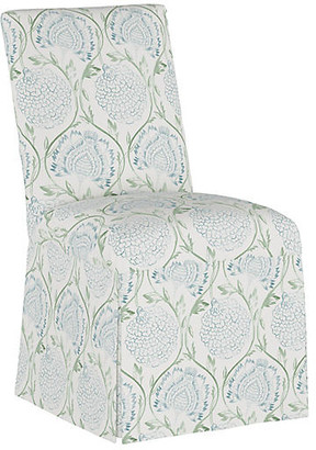 One Kings Lane Owen Slipcover Side Chair - Floral Sage