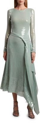Roland Mouret Angelo Sequined Belted Dress