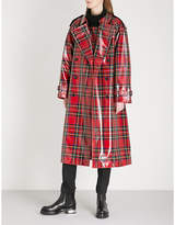 Burberry Eastheath patent-wool trench coat