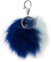 Adrienne Landau Two-Tone Fox Fur Pompom, Blue/White