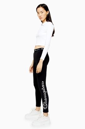 Champion Womens Black Large Logo Leggings By Black