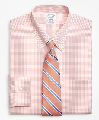 Brooks Brothers Regent Fitted Dress Shirt, Non-Iron Double-Mini Windowpane
