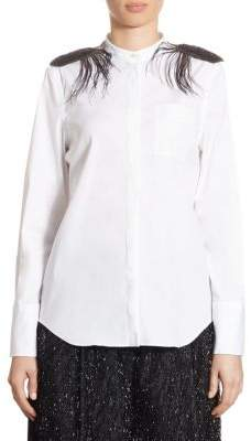 Brunello Cucinelli Cotton Poplin Feather Shirt