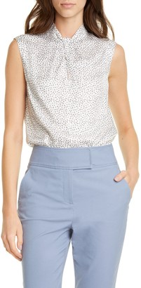 Tailored by Rebecca Taylor Pyramid Sleeveless Silk Blend Blouse