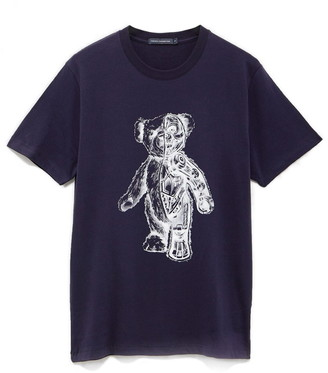 French Connection Men's Teddy Bear Robot Graphic Tee