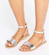 Asos FLIQUE Wide Fit Leather Flat Sandals