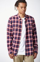 Vans Beachwood Plaid Flannel Long Sleeve Button Up Shirt