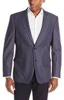 Tommy Hilfiger Men's Two Button Polka Dot Sport Coat, Grey