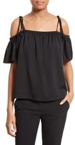 Milly Women's Eden Off The Shoulder Stretch Silk Top