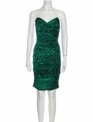 Dolce & Gabbana Silk Mini Dress w/ Tags Green