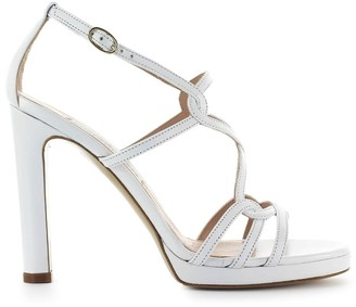 Roberto Festa Clinique White Nappa Leather Sandal