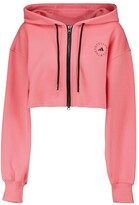 Thumbnail for your product : adidas by Stella McCartney Cropped organic cotton hoodie