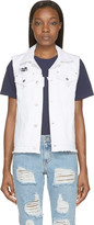 Sjyp White Open-back Destroyed Vest