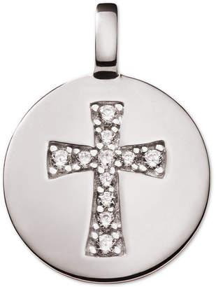 Swarovski Charmbar Zirconia Cross Reversible Charm Pendant in Sterling Silver