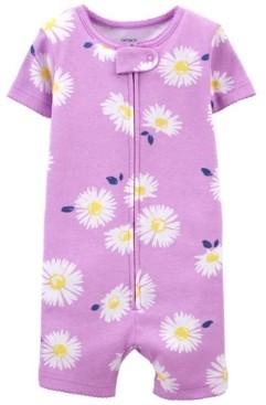 Carter's Baby Girls Daisy Romper Pajamas