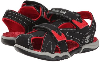 Timberland Kids Adventure Seeker Closed Toe Sandal (Little Kid) (Black/Red) Boys Shoes