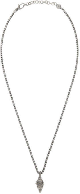 Gucci Silver Anger Forest Wolf Necklace