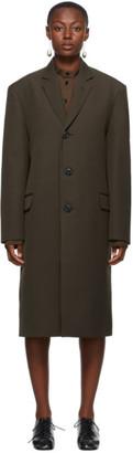 Lemaire Brown Wool Suit Coat