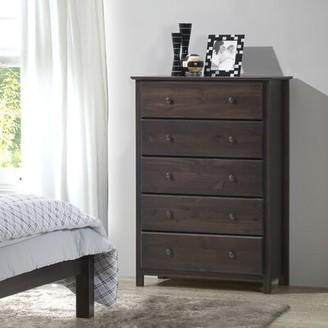 Grain Wood Furniture Shaker 5 Drawer Chest Grain Wood Furniture Color: Cherry