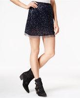 Free People Wild Child Sequined Mini Skirt