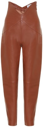 ATTICO Dallas leather high-rise carrot pants