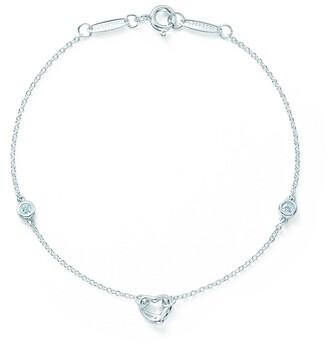 Tiffany & Co. Elsa Peretti Diamonds by the Yard Open Heart bracelet in sterling silver