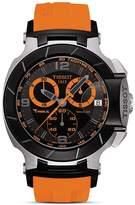 Tissot T-Race Men's Black Quartz Chronograph Orange Rubber Watch, 50mm