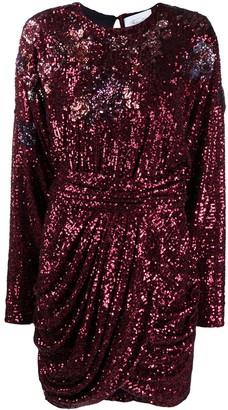 Redemption Draped Sequin Dress