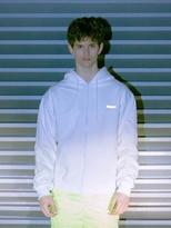 [Unisex] Scotch Logo Hoody Zip Up White