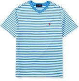 Ralph Lauren Striped V-Neck Jersey Tee, Size 2T-4T
