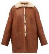 Raey Oversized Shearling Coat - Womens - Tan