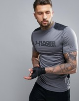 Under Armour Training Raid Graphic Logo T-shirt In Grey 1292648-040