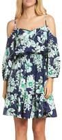 Eliza J Cold Shoulder Dress (Petite)
