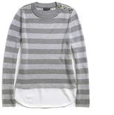 Tommy Hilfiger High Neck Striped Sweater