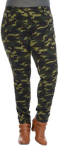 Celeste Camel Camouflage Slim-Leg Jeans - Plus