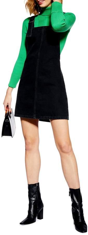 Topshop Denim Pinafore Dress