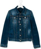 DSQUARED2 flap pockets denim jacket - kids - Cotton/Spandex/Elastane - 14 yrs