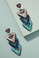 Anthropologie Beaded Triangle Drop Earrings