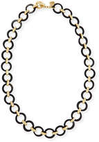 Ashley Pittman Mtego Round Dark Horn Link Necklace
