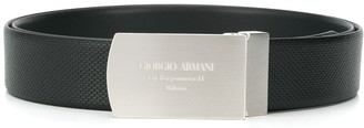 Giorgio Armani Grained Buckle Belt