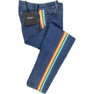 Palm Angels Blue Cotton Jeans