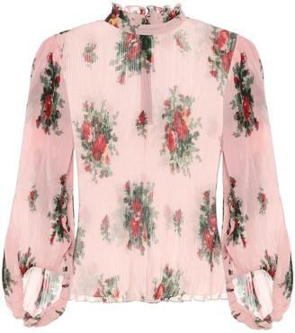 Ganni Floral georgette blouse