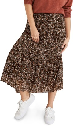 Madewell (Re)sourced Georgette Tiered Maxi Skirt