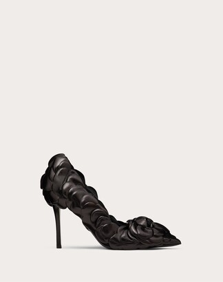 Valentino Atelier Shoes 03 Rose Edition Pump 100 Mm Women Black Lambskin 100% 35