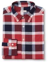 Merona Men's Button Down Oxford Shirt Red